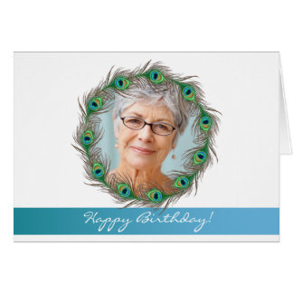 Happy Birthday ! - Peacock photo greeting card