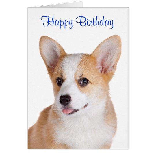 Happy Birthday Pembroke Welsh Corgi Greeting Card