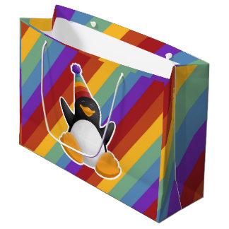 Happy Birthday Penguin Rainbow Gift Bag