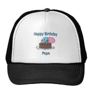 Happy Birthday Pepe French Grandpa Birthday Design Hats