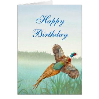 Happy Birthday Pheasant Card