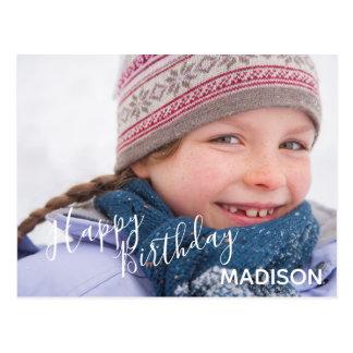 Happy Birthday Photo & Arrows- Birthday Postcard