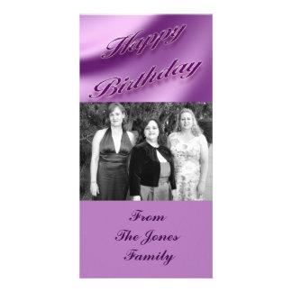 Happy Birthday Customized Photo Card