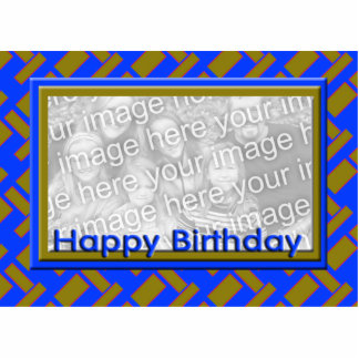 Happy Birthday photo frame Standing Photo Sculpture