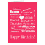 Happy Birthday/Physician Assistant Attributes/Pink Greeting Card