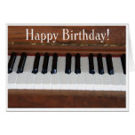 Happy Birthday Piano Greeting Card