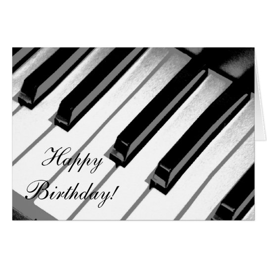 Happy Birthday! Piano Music Card