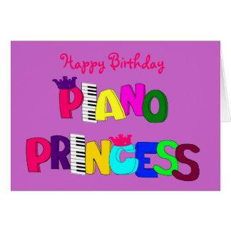 Happy Birthday Piano Princess Card