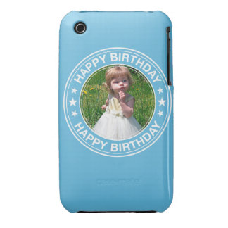 Happy Birthday Picture Frame in Blue Case-Mate iPhone 3 Case