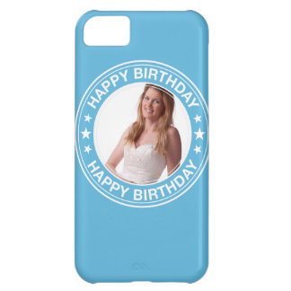 Happy Birthday Picture Frame in Blue Cover For iPhone 5C