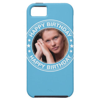 Happy Birthday Picture Frame in Blue iPhone 5 Cover