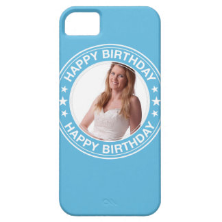 Happy Birthday Picture Frame in Blue iPhone 5 Cases