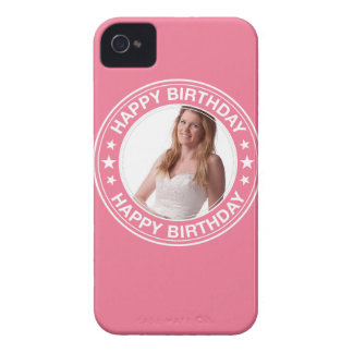 Happy Birthday picture Frame in Pink Case-Mate iPhone 4 Case