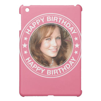 Happy Birthday picture Frame in Pink iPad Mini Cases