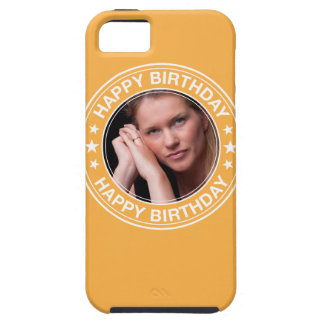 Happy Birthday picture Frame in Yellow iPhone 5 Cover