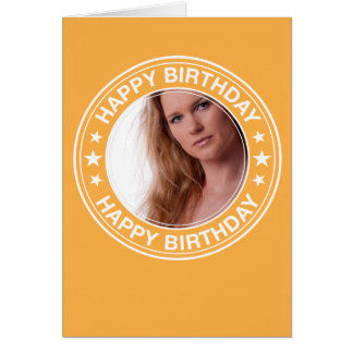 Happy Birthday picture Frame in Yellow Note Card