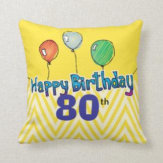 Happy Birthday Pillow Template Throw Cushion