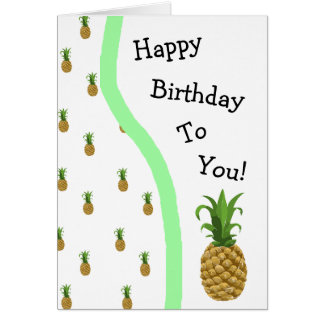 Happy Birthday Pineapple Cutesy Card