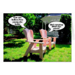 Happy Birthday, Pink Chairs Humour Greeting Cards