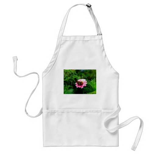 Happy Birthday Pink Flower Butterfly Aprons