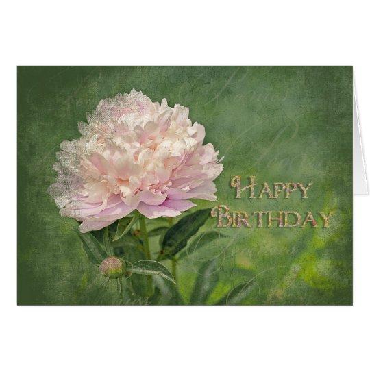 Happy Birthday - Pink Peony Elegance Card