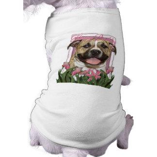 Happy Birthday - Pitbull - Tigger Sleeveless Dog Shirt