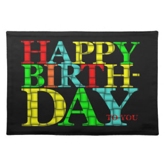 Happy Birthday Placemat Cloth Placemat