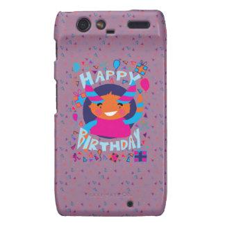 Happy Birthday Playful Monster Motorola Droid RAZR Case