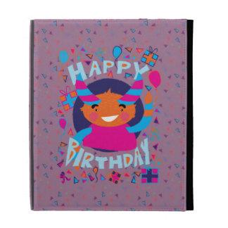 Happy Birthday Playful Monster iPad Folio Covers
