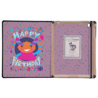 Happy Birthday Playful Monster Case For iPad