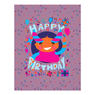 Happy Birthday Playful Monster Personalized Flyer