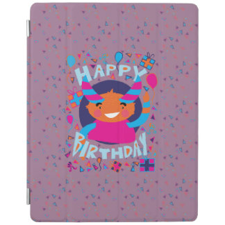 Happy Birthday Playful Monster iPad Cover