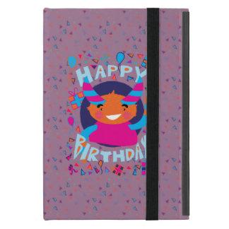 Happy Birthday Playful Monster iPad Mini Covers