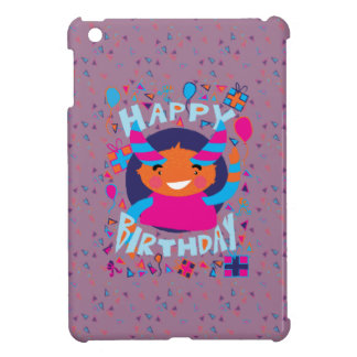 Happy Birthday Playful Monster iPad Mini Cases