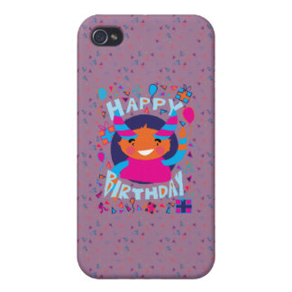 Happy Birthday Playful Monster Cases For iPhone 4