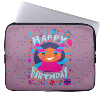 Happy Birthday Playful Monster Laptop Computer Sleeves