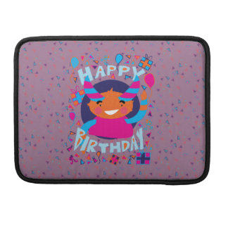 Happy Birthday Playful Monster Sleeve For MacBook Pro