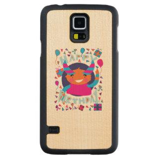 Happy Birthday Playful Monster Maple Galaxy S5 Case