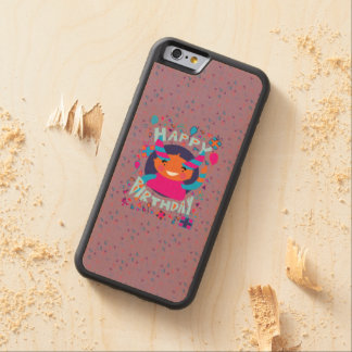 Happy Birthday Playful Monster Maple iPhone 6 Bumper Case