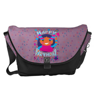 Happy Birthday Playful Monster Courier Bag