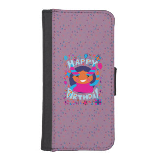 Happy Birthday Playful Monster Phone Wallet Cases