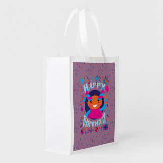 Happy Birthday Playful Monster Market Tote