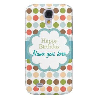 Happy Birthday (poka dots) Galaxy S4 Case