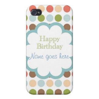 Happy Birthday (poka dots) iPhone 4/4S Cover