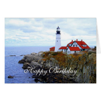 Happy Birthday, Portland Head Light House Card