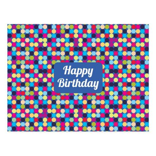Happy Birthday  - Postcard