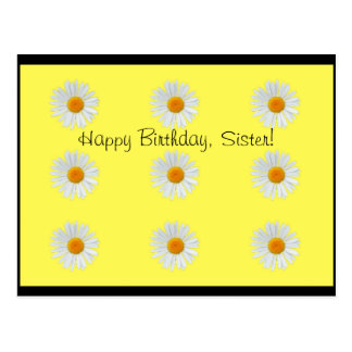 Happy Birthday Postcard with daisy