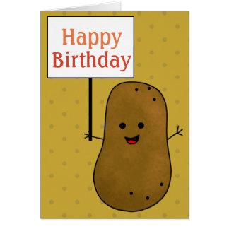 Happy Birthday Potato Card