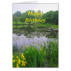 Happy Birthday, Potter Lake, Kansas, in Spring Card