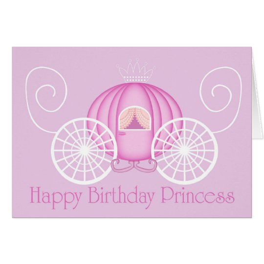 Happy Birthday Princess Card with verse